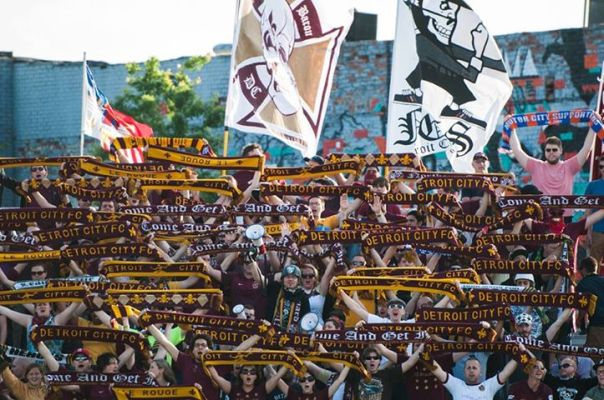 Detroit City FC's Northern Guard supporters group