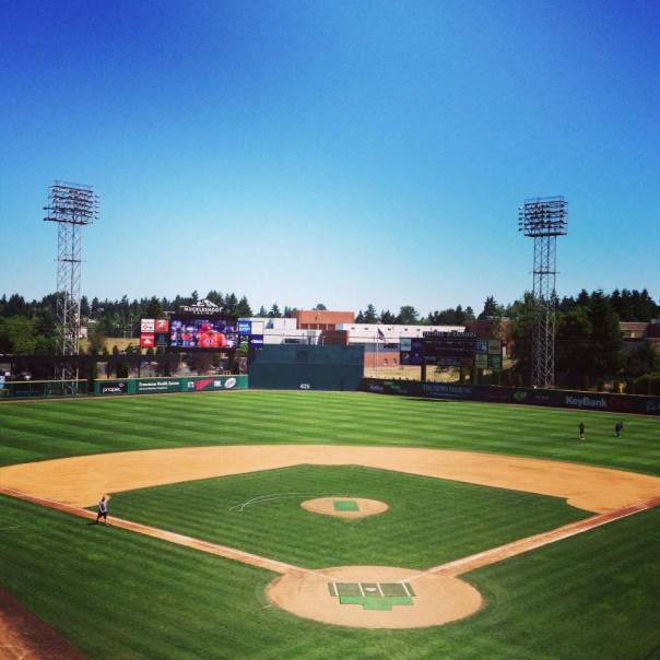 Cheney Stadium outfield