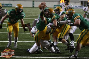 Senior Jayden Croft dives for a touchdown in Tumwater's title game loss